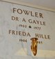Profile photo: Dr A Gayle Fowler