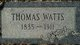 Thomas Watts