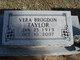 Vera P <I>Brogdon</I> Taylor