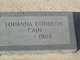 Profile photo:  Louanna <I>Goodson</I> Cain