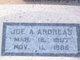 Profile photo:  Joe A Andreas
