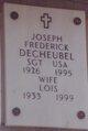 "Joseph Frederick ""Fred"" deCheubel"
