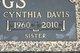 Cynthia Irene <I>Staggs</I> Davis