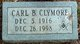 Profile photo:  Carl Brown Clymore