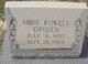 Profile photo:  Abbie <I>Rowell</I> Dryden