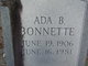 Profile photo:  Ada <I>Bishop</I> Bonnette