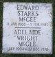 Profile photo:  Adelaide <I>Wright</I> McGee