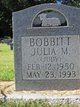 "Julia Marie ""Judy"" <I>Mims</I> Bobbitt"