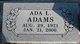 Profile photo:  Ada L Adams