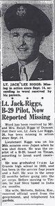 Lieut Jack Lee Riggs