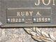 Ruby A. <I>Tedrow</I> Jones