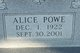 Profile photo:  Alice <I>Garth</I> Powe