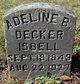 Profile photo:  Adeline B <I>Decker</I> Isbell