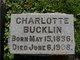 Charlotte <I>Hendershot</I> Bucklin