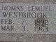 Thomas Lemuel Westbrook