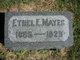 Profile photo:  Ethel E. Mayes