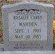Rosalie <I>Carey</I> Wahden