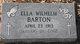 Ella <I>Wilhelm</I> Barton