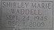 Profile photo:  Shirley Marie Waddell