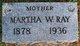 Martha <I>Anderson</I> Ray