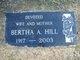 Profile photo:  Bertha Amanda <I>Schmidt</I> Hill