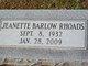 Jeanette Barlow Rhoads