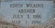 Profile photo:  Mary Edith <I>Wilkins</I> Absher
