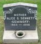 Profile photo:  Alice Nicholas <I>Seminoff</I> Sennett