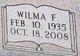 Wilma F Barrett