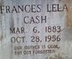 "Frances Lela ""Lea"" <I>Harrison</I> Cash"