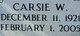 """Carsie William """"Wimpy"""" Creel"""