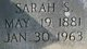 "Sarah Elizabeth ""Sissy"" <I>Sumrall</I> Creel"