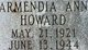 Armendia Ann <I>Creel</I> Howard