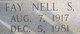 Fay Nell <I>S</I> Creel