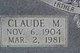 Claude M Burge