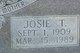 Josie T Burge