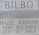 Hazel <I>Johnson</I> Bilbo