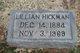Rose Lillian <I>Harrelson</I> Hickman