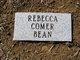 Rebecca <I>Comer</I> Bean