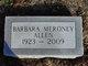 Profile photo:  Barbara <I>Meroney</I> Allen