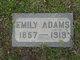 Profile photo:  Emily Adams