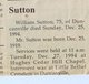 PFC William Hubert Sutton