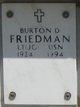 Profile photo: LTJG Burton D Friedman