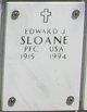 Profile photo: PFC Edward J Sloane