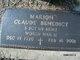 """Profile photo:  Marion Claude """"M.C. Cooper"""" Benedict"""