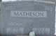 Profile photo:  VICTOR JOSEPH MATHESON