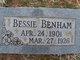 Bessie G Benham