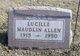 "Profile photo:  Viola Lucille ""Lucille"" <I>Maudlin</I> Allen"