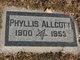 Profile photo:  Phyllis <I>Piper</I> Allcott