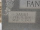 Sarah E <I>Smith</I> Fanning
